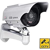 Silverline Dummy CCTV Home Security Camera with LED Solar Powered /& Weatherproof