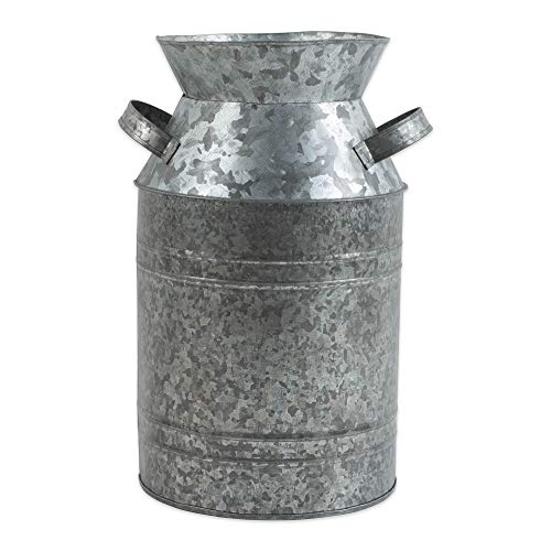 Large Jug Milk - DII Z02275 Galvanized Metal Farmhouse Rustic Old Fashioned Tin Jug, 6.75