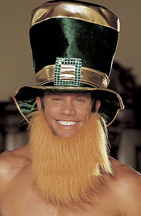 [St. Patrick'S Day Hat With Attached Beard (Green;One Size)] (St Patricks Day Dance Costumes)