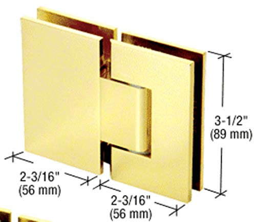 Polished Brass Geneva 380 Series Adjustable 180 Degree Glass-to-Glass Hinge