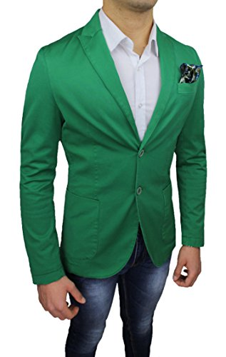 Italy Alessandro Casual Uomo Giacca Fit Made Elegante Gilles Slim Sartoriale Verde In RPwqqnX5O