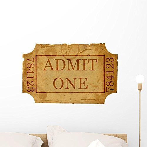 admit one ticket wall art - 5