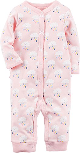 Carter's Baby Girls' Cotton Snap-Up Footless Sleep & Play (6 Months, Pink Multi)
