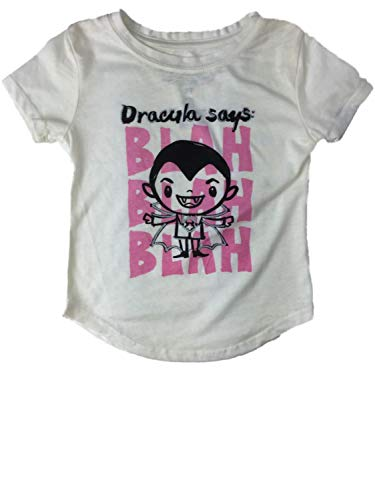 Little Monsters Infant Toddler Girls Count Dracula Says Blah Blah Blah Halloween Tee Shirt ()