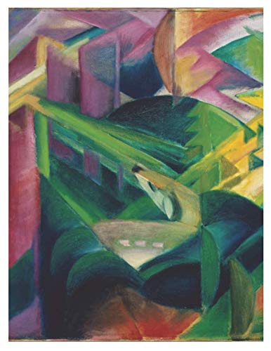 Deer in a monastery garden, Franz Marc. Blank journal: 150 blank pages, 8,5x11 inch (21.59 x 27.94 cm) Laminated ()