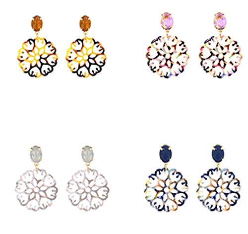 YChoice Beautiful Earrings Decoration Leopard Print Stud Earrings Women Acrylic Pierced Earrings Jewelery Blue