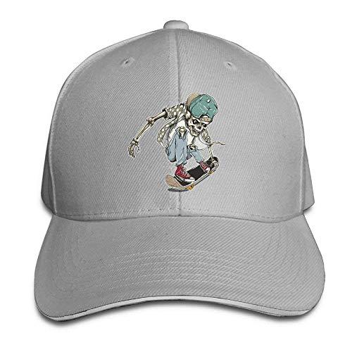 JHDHVRFRr Hat Skate Skull Denim Skull Cap Cowboy Cowgirl Sport Hats for Men Women