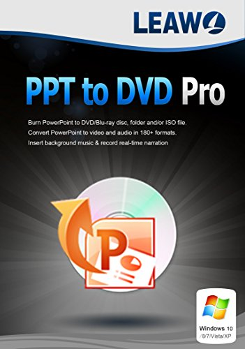 PowerPoint to DVD Pro for Windows – Burn PowerPoint to DVD/Blu-ray, Convert PowerPoint to Video in MP4, FLV, AVI, WMV, etc. 180+ formats in 6X Faster Speed.(1 Year)
