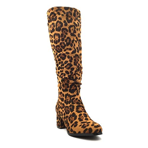 Cm Fashion Soft Biker Basic Mocassini 8 Angkorly Simple 5 Leopard Tacco Scarpa Biker alto Block Fur Sissy Boot Donna Boot Indoor 5n0gTgqY
