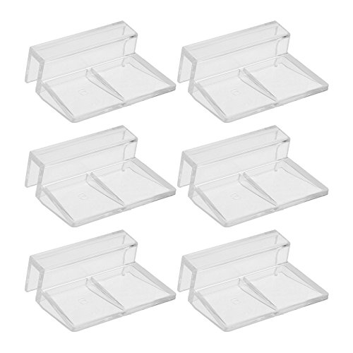 BCP 6pcs Clear Color Acrylic Aquarium Fish Tank Glass Cover Clip Support Holder,6mm