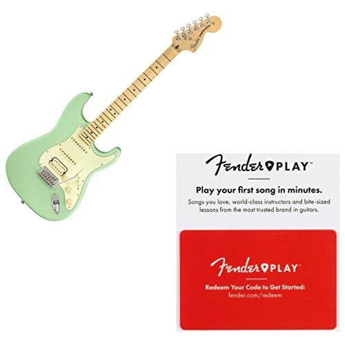 Fender 0114922357 American Performer Stratocaster HSS MN Satin Surf Green w/Fen ()