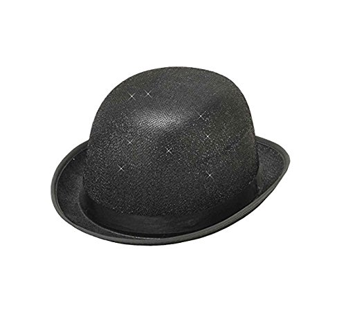 - Forum Novelties Men's Glitter Mesh Novelty Derby Hat, Black, One Size