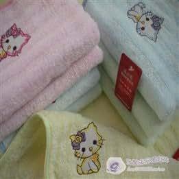 Cotton cats children package edge bamboo fiber towel