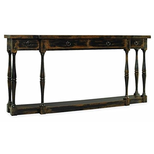 Hooker Furniture Sanctuary Four-Drawer Thin Console in Ebony - Hooker Furniture Console