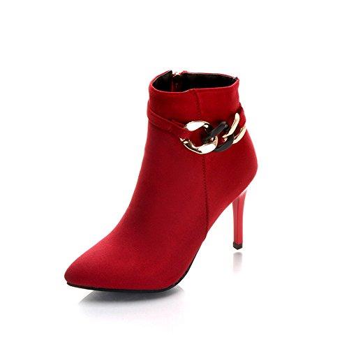 Américain Daim Talon Haut Talon Zipper Trente Nue Chaussures Européen KHSKX Mariage Fine six Côté Et En À Nouveau Bottes qFAPfw