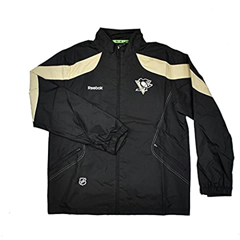 NHL Men's Pittsburgh Penguins Center Ice Lightweight Jacket (Black, XX-Large) - Pittsburgh Penguins Jacket