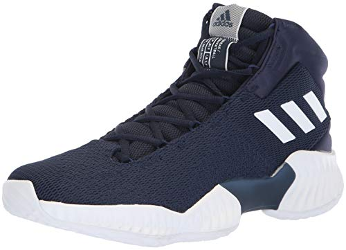 adidas Men's Pro Bounce 2018 Basketball Shoe, White/Collegiate Navy, 10 M US