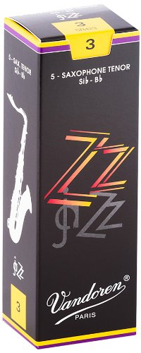 Vandoren SR423 Tenor Sax ZZ Reeds Strength 3; Box of 5