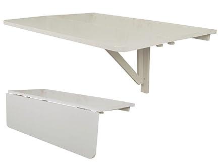 SoBuy® Tavolo da muro pieghevole, 80*60cm,2x pieghevole, bianco ...