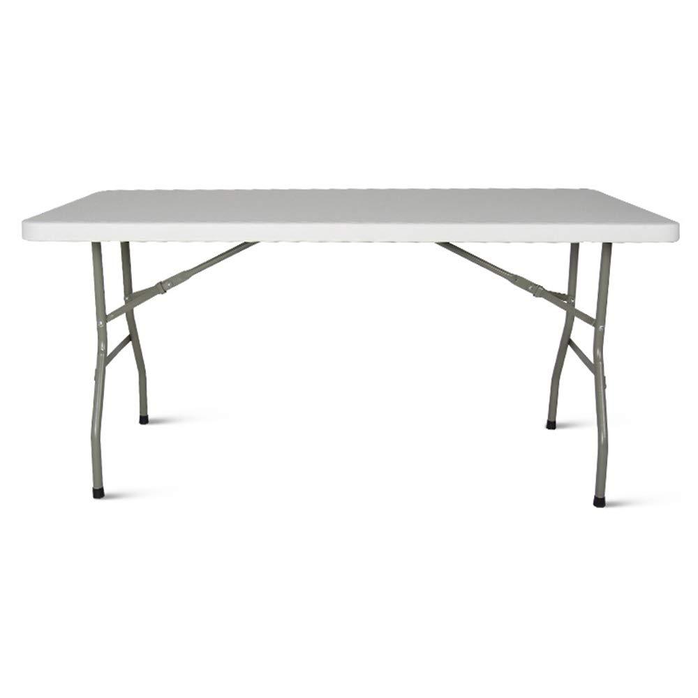 YANFEI 長いポータブル折り畳みテーブル、屋外プロモーションテーブルストール訓練の展示会産業会議の研究デスク伝統的なテーブル B07H9ZL35T