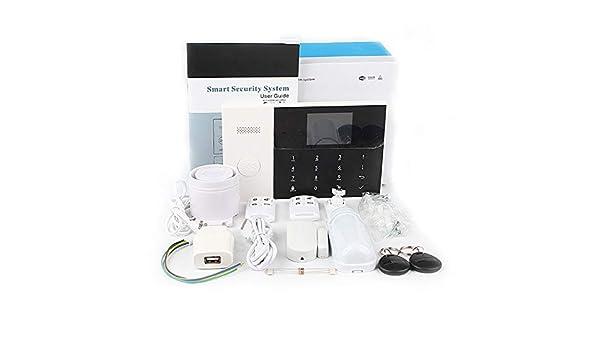 WiFi + gsm Alarma Host Pantalla LCD Táctil Teclado Soporte ...