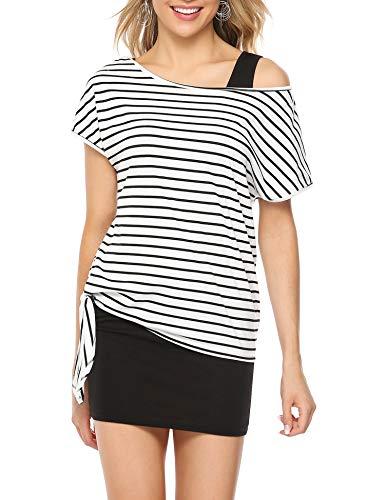 Aiboria Women Summer Outfits 2 Piece Casual Loose Print Shirt Top Bodycon Mini Tank Dress (Top Tank Print Mini)