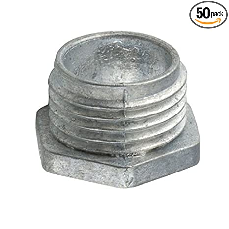 Non-Insulated Pack of 50 Pack of 50 3//4 Trade Size Die Cast Zinc Hubbell-Raco 1663 Offset Chase Conduit Nipple 3//4 Trade Size
