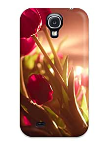 Coy Updike's Shop New Style Protection Case For Galaxy S4 / Case Cover For Galaxy(vibrant Red Tulips) 8832181K24675643