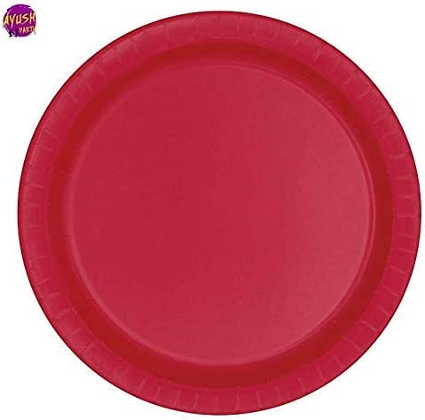 "72 x PINK PLASTIC PLATES 18cm 7/"" BIRTHDAY PARTY SUPPLIES TABLEWARE DISPOSABLES"