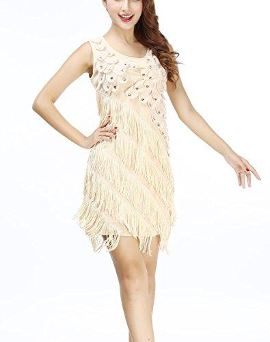 Whitewed Fringe Jazz Latin Ballroom Dresses Apparel Clothing Costume Guess Women