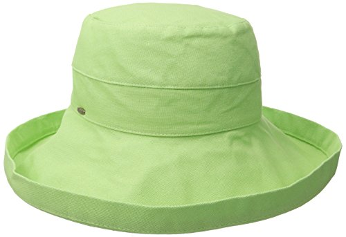 Scala Women's Cotton Hat with Inner Drawstring and Upf 50+ Rating,Lime,One Size ()