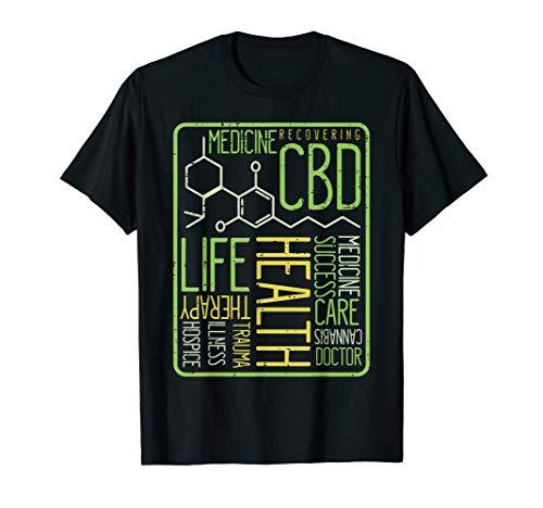 CBD Shirt Cannabidiol Words Hemp Plant Molecule Gift T-Shirt
