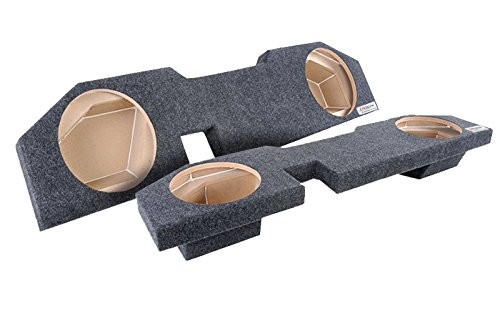 Bbox A202-12CP Dual 12″ Sealed Carpeted Subwoofer Enclosure – Fits 2002-2017 Dodge Ram Quad Cab