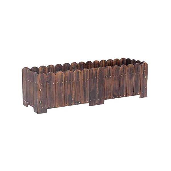 HEMFV Legno Planter Box, Forma for Il Giardino, Patio o Finestra Esterna Vaso di Fiori di impianto di Sicurezza 1 spesavip