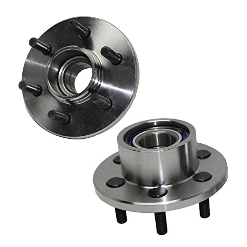 Detroit Axle - 2WD Pair (2) Front Wheel Bearing and Hub Assembly 6-Lug Fits 2WD NON ABS