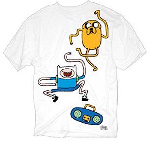 Adventure Time Jake and Finn Dance Dance Mens Tee (Large)
