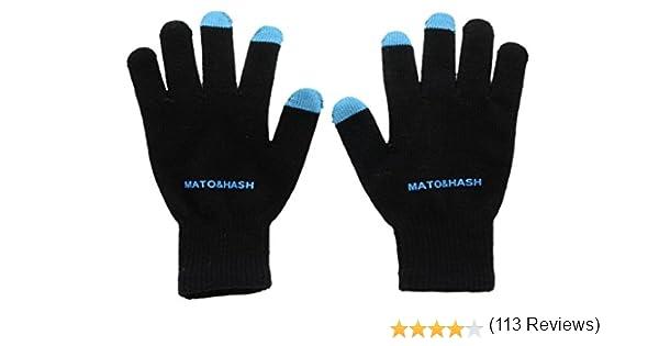 Mato & Hash - Guantes - para hombre Multicolor negro/azul Talla única: Amazon.es: Ropa y accesorios