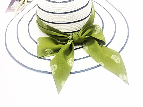 an Headdress 100 liven Sash Green s Piquant Necktie Accessories Scarf Women Fashion outfit Silk SilRiver up to Tie Skinny zR1qnZwwE