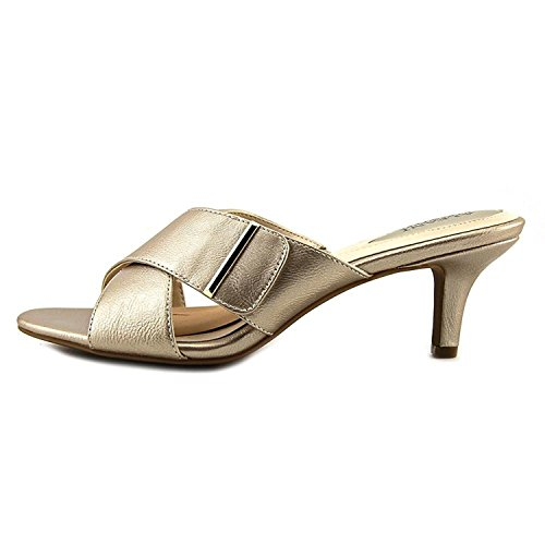 (Alfani Womens Larrk Open Toe Casual Mule Sandals, Platino, Size 9.0)