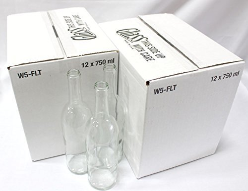 Home Brew Ohio B0156SC8QO FBA_Does Not Apply Bordeaux Wine Bottles-2 Cases, Clear