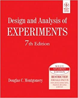 Design analysis of experiments 7th edition international student design analysis of experiments 7th edition international student edition douglas c montgomery amazon books fandeluxe Image collections