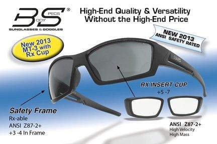 Body Specs MT-3 Matt Black Frame with Rx Cup, Black MT-3 BLK