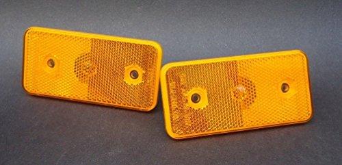 (Mercedes Benz Front Orange Side Marker Lens Pair W463 G Wagon OEM 2002-2014 ULO)