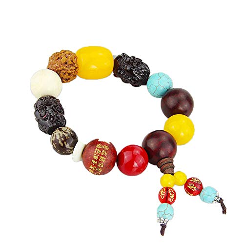 Move on Car Gear Shift Wood Buddha Beads Bracelet Rearview Mirror Hanging Ornament Decor S by Move on (Image #6)