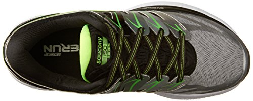 Saucony Hombres Hurricane Iso 2 Running Shoe Black | Plata | Limo