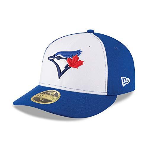 Toronto Blue Jays Low Profile Tri Color Fitted Size 8 Hat Cap - Team Colors