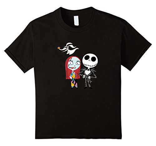 Kids Disney Nightmare Before Christmas Jack and Sally TShirt 4 (Nightmare Before Christmas Girl)