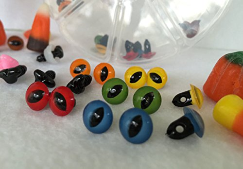 bangdan Plastic Sew On Eyes & Cat Noses Assortment Gift Set, mixed by bangdanmall ok