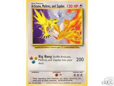 amazon com pokemon legendary birds jumbo promo card zapdos