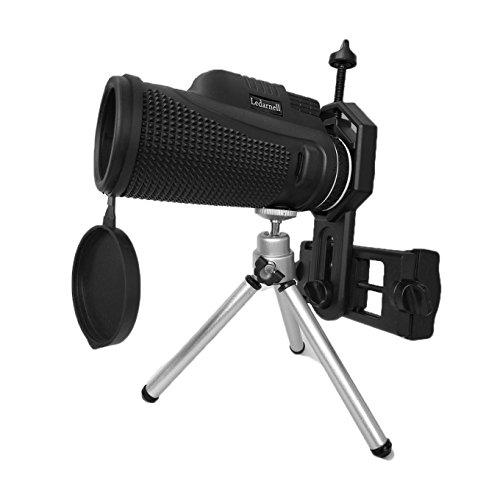 40X60 Monocular Telescope Compact Adults Waterproof Fogproof Shockproof Phone Adapter Tripod Bird Watching Hunting Camping Hiking (FMC BAK4) by SENMONUS